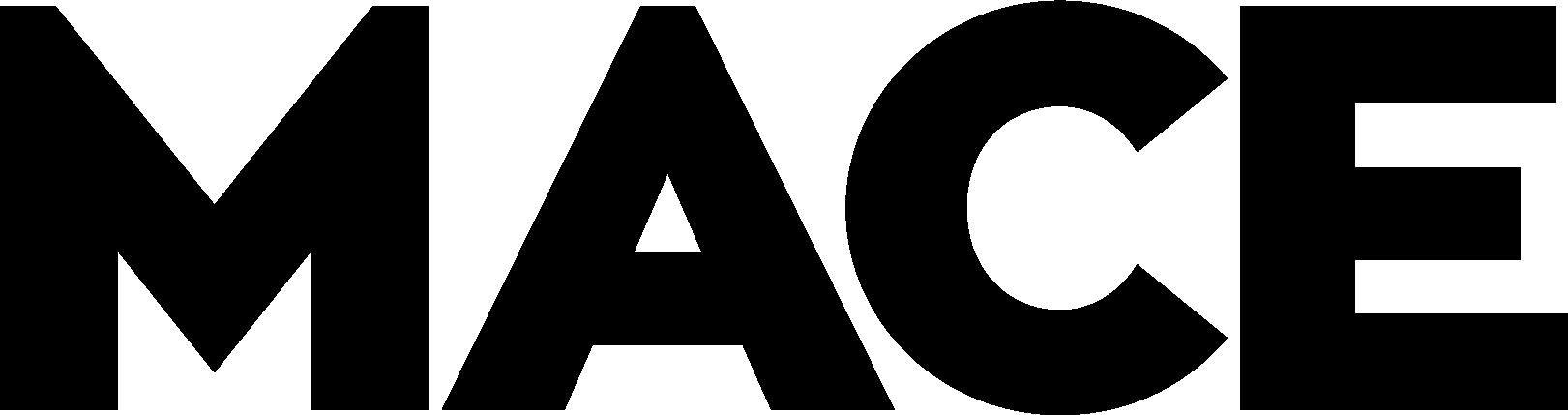 Black MACE logo