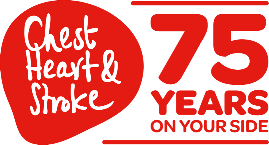 Northern Ireland Chest Heart & Stroke 75 years on your side logo