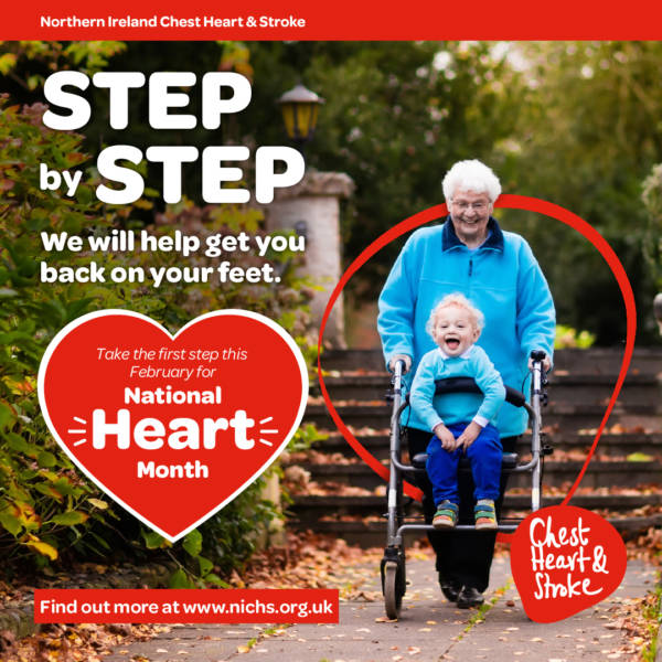 Get one step closer to a healthy heart with NI Chest, Heart and Stroke's online health check