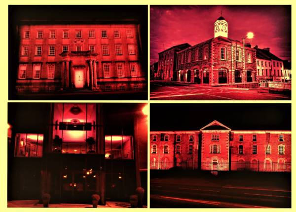 Local Councils light up RED to celebrate 75th Anniversary of local charity
