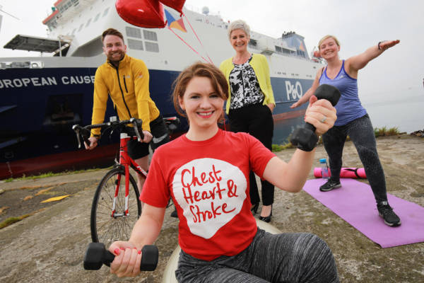 Northern Ireland Chest Heart and Stroke helps P&O Ferries Staff Get Ship Shape