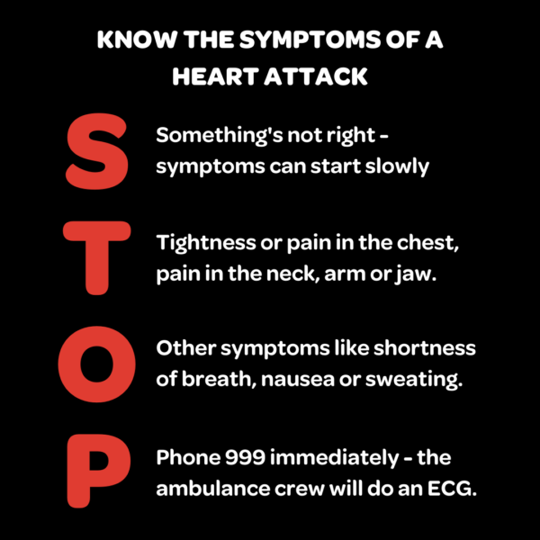 When heart attack strikes, STOP and seek help immediately