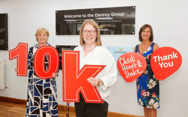 The Denroy Group Donates £10,000 to NI Chest Heart & Stroke