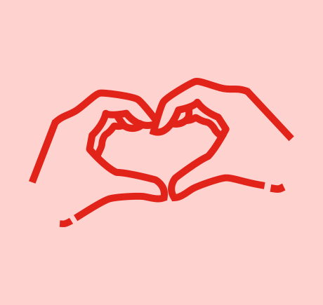 Hands making heart symbol placeholder image