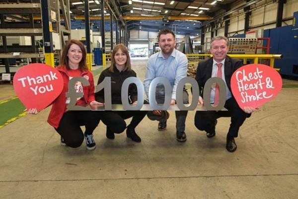Hutchinson Engineering raise £10,000 towards new NI heart service