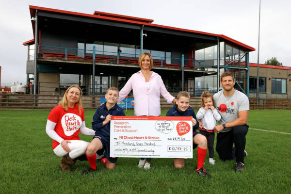 Malone Rugby Football Club raises over £10,000 for NI Chest Heart & Stroke in memory of Patrick 'Chippy' Baird