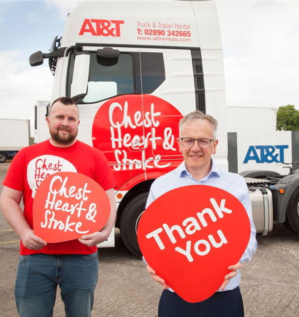 'Rankin' the lorry hits to road to raise money for NI Chest Heart & Stroke
